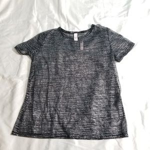 Victoria's Secret Sheet Black Sparkle Tshirt NWT